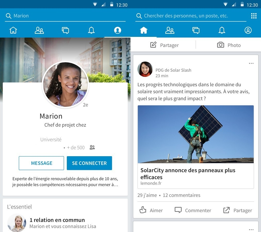 Linkedin-applications-android