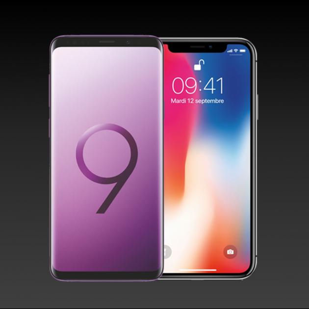 Samsung-s9-apple-iphone-x