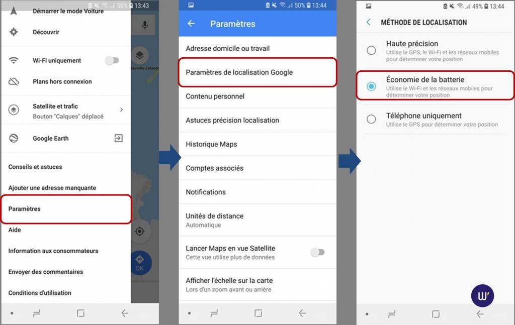 Google-maps-economie-batterie-localisation