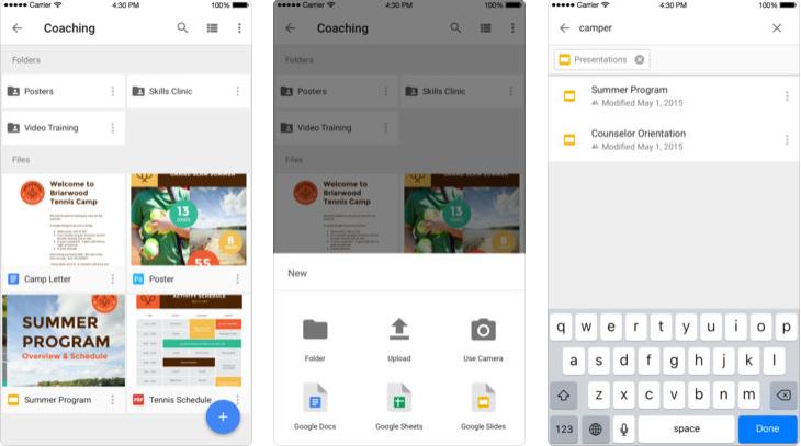 Applications pour travailler en groupe : Google Drive