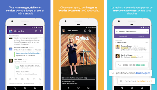 Applications pour mieux communiquer avec des collègues de travail : Slack